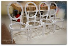 How we transform our builder cookie-cutter house to a glammed-up home, DIY projects and design ideas. Reupholster Dining Room Chairs, Dinning Chairs, Upholstered Chairs, Furniture Reupholstery, Reupholster Furniture, Chalk Paint Chairs, Painted Chairs, Painted Kitchen Tables, Striped Chair