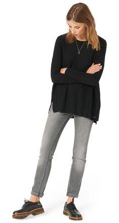 Feinstrick-Pullover für Frauen (unifarben, langärmlig mit  Rundhals-Ausschnitt) - TOM TAILOR 3fc435726b