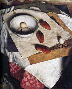 Dik Ket (Dutch, 1902-1940). Stilleven met broodjes (Still life with bread) c. 1933.