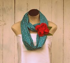 Organic Cotton Blue Circle Scarf With Removable by NestEggBird, $38.00