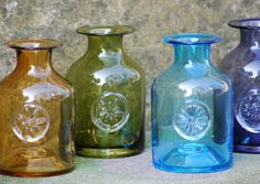 Dartington Glass mini bottle vases