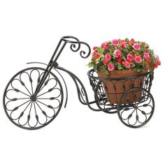 Bicycle Plant Stand Home Garden Decor Display Decorative Flower Holder Iron New - Plant Holder - Ideas of Plant Holder - Bicycle Plant Stand Home Garden Decor Display Decorative Flower Holder Iron New Price : Garden Plant Stand, Metal Plant Stand, Garden Plants, Plant Stands, Garden Trees, Flower Cart, Flower Pots, Feng Shui, Lawn And Garden