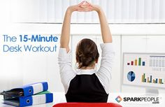 15-Minute Desk Workout Video | SparkPeople