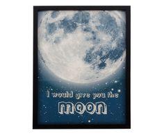 Quadro con cornice in resina e vetro The Moon - 30x40x2 cm | Dalani Home & Living