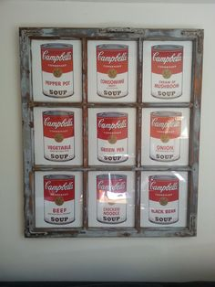 Old meats new. Andy Warhol. Frame by Karl Björnsson