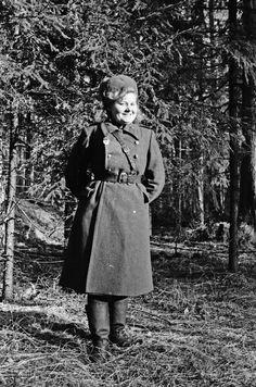 Secretary-typist counterintelligence department of the Sverdlovsk 61st Guards Tank Brigade 10th Ural Volunteer Tank Corps Guard Lieutenant Anna A. Zagoskina (born in 1921).