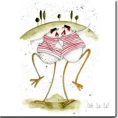 Oooh La la! Greeting Card www.theskinnycardcompany.co.uk