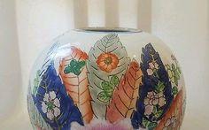 Da Qing Qianlong Nian Zhi Chinese Tobacco Leaf Famille Rose Republic Period Vase