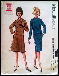 McCall's 7055  Rare 1963 Pattern  Misses' Suit by ThePatternShopp, $25.00