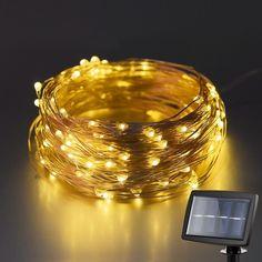 Kohree Guirlande Lumineuse LED solaire 120 LED 6M Guirlande Lumineuse d'éxterieur étanche IP45 Fil cuivre
