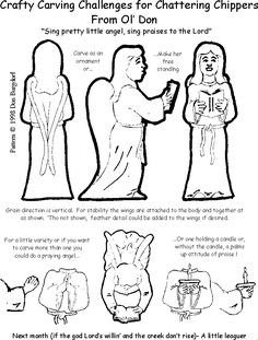 Carving an angel free instructions pattern