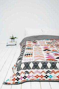 Wonky - Couvre-lit à motifs géométriques - Urban Outfitters