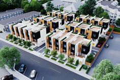 Three-storey townhomes at Oakway are coming soon to lively Langley, BC Row House Design, Duplex House Design, Villa Design, Townhouse Exterior, Modern Townhouse, Building Plans, Building Design, Casa Retro, Affordable House Plans