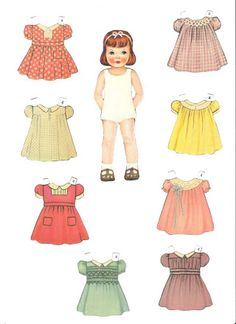 Tots & Togger * 1500 free paper dolls at Arielle Gabriel's The International Paper Doll Society and also free China and Japan paper dolls at The China Adventures of Arielle Gabriel * Paper Dolls Clothing, Doll Clothes, Vintage Kids Clothes, Paper Dolls Printable, Christmas Paper Crafts, Doll Party, Vintage Paper Dolls, Waldorf Dolls, Retro Toys