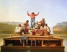 Artist George Caleb Bingham - Raftsmen Playing Cards - News - Bubblews