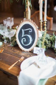 wedding reception table number idea; photo: Conforti Photography