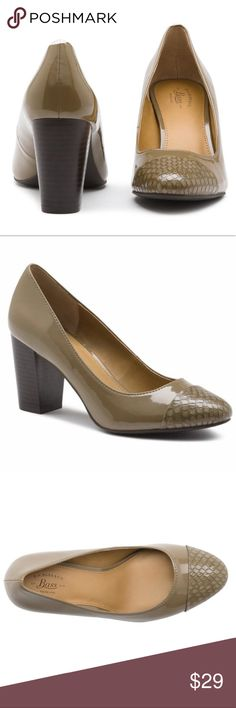 "G.H. BASS & CO. PACEY PUMPS 👠 NIB 🎁 Lovely, classic, pumps by G.H. Bass & Co. Color is Khaki. Block heel is approximately 3"". Beautiful shoes! Comes from a smoke free home 🏡 Bundle & save! Bass Shoes Heels"