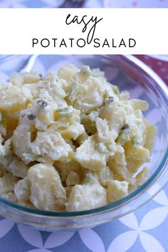 Potato Salad Recipe Easy, Salad Ingredients, Savoury Dishes, Summer Recipes, Salad Recipes, The Best, Side Dishes, Potatoes, Hard Boiled