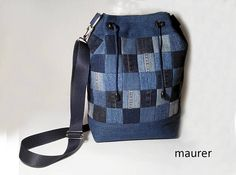 Patchwork Bag HandmadeBag shoulder bag denim bag  Bags &