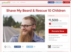 Shave My Husbands Beard & Rescue 10 Children!  I get to shave my husbands beard if we hit our donation goal to save young girls from a life of sex slavery.  Will you help? http://www.gofundme.com/shaveandrescue