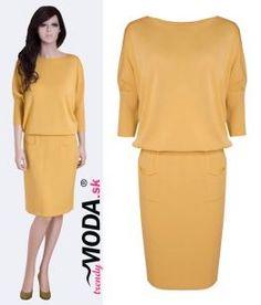 Žlté trendy šaty– trendymoda.sk
