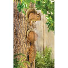 PRODUCT DESCRIPTION: Two-piece decoration creates the illusion of a mischievous squirrel poking out from a tree trunk; a merry accent indeed! Lifelike furry fellow will have visitors guessing and grin