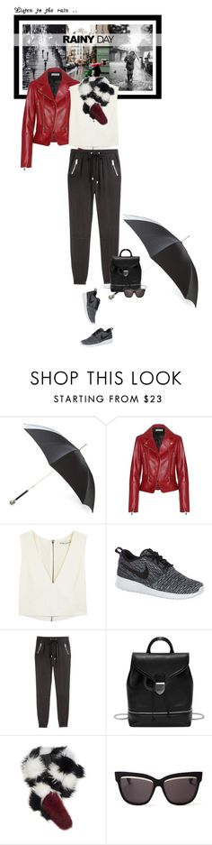 """""""Some people feel the rain, others just get wet..."""" by matilda66 ❤ liked on Polyvore featuring Alexander McQueen, Balenciaga, Alice + Olivia, NIKE, H&M, Charlotte Simone, Christian Dior, scarf and charlottesimone"""