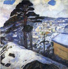 Winter, Kragero - Edvard Munch