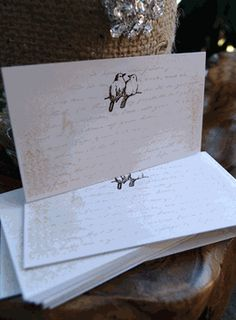 Place Cards Handmade Love Birds (24 cards/pkg)