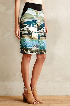 This skirt, from Anthropologie, seems an ideal candidate for remaking a skirt that's gotten a little too snug.  Range