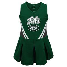 New York Jets Toddler Girls' Cheer Set - Team Color 2T,