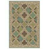 Found it at Wayfair - Consolata Ivory/Green Area Rug