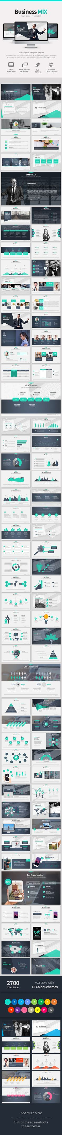 Business Mix PowerpointPresentation - Creative PowerPoint Templates