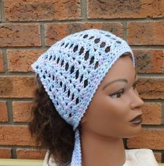 Crochet Hair Kerchief Pattern : Crochet Bandana, Crochet Headband, Crochet Kerchief, Women Accessories ...