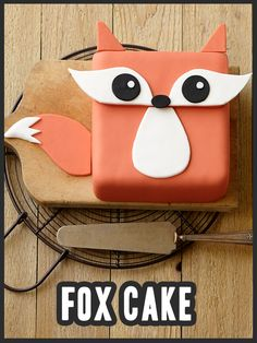 Trot into your next summer party with this adorable Fondant Fox cake. #wilton #cake #cakedecorating #dessert