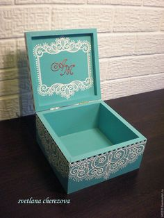 Wooden Box Crafts, Painted Wooden Boxes, Wood Crafts, Diy Crafts, Dot Art Painting, Painting On Wood, Wood Box Design, Decoupage Box, Jewellery Boxes