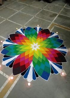 Explore latest easy rangoli design image ideas collection for Diwali. Here are amazing simple rangoli designs to decorate your home this festive season. 3d Rangoli, Sanskar Bharti Rangoli Designs, Easy Rangoli Designs Diwali, Rangoli Simple, Indian Rangoli Designs, Rangoli Designs Latest, Simple Rangoli Designs Images, Rangoli Colours, Rangoli Designs Flower