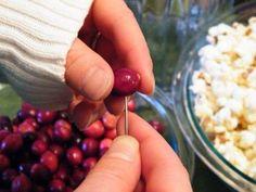 ❥ Cranberries and popcorn