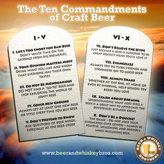 Os 10 Mandamentos da Cerveja Artesanal