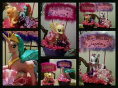 My Little Pony Party centerpieces.