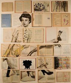 Ekaterina Panikanova book art A collection of books, could be inspiration for GCSE question Arrangements