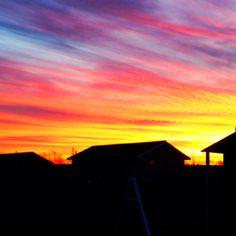 Sunset at Slangerup Denmark