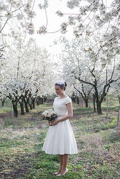 mara.zb / elegantné jednoduché svadobné šatky pre sl.E