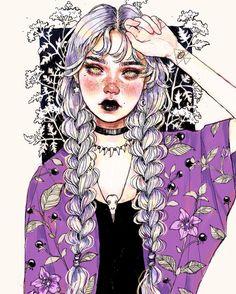 Pin by ainez on рисунки drawings, art, art inspo. Kunst Inspo, Art Inspo, Pretty Art, Cute Art, Arte Sketchbook, Witch Art, Cool Drawings, Art Girl, Art Sketches