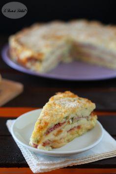 torta di patate con salame e scamorza