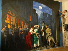 Night scene Mural by Mel