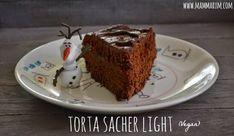 Una #torta sacher light?? E' possibile?? Può sembrare un ossimoro, un paradosso, e invece è proprio così! Ed è pure #vegan !