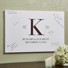 "Wedding Signature Personalized Canvas Print 12""x18"""