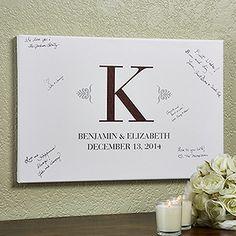"Wedding Signature Personalized Canvas Print 12""x18"""