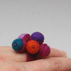 crochet and felt ring